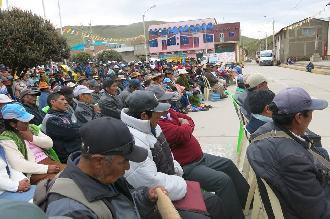 ANTAUTA: Dirigentes de Antauta, señalan que tomarán medidas de protesta si empresa MINSUR hoy no accede a mesa de conversación.