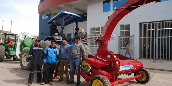 UMACHIRI:  gobierno local de umachiri fortaleciendo el sector pecuario, implementan con maquinarias agrícolas consistentes en una segadora de tambores de marca samasz y una cosechadora picadora de forrajes de marca new holland.