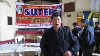 Puno: Dirigente del SUTE Pedro Castillo propone derogar Ley de Reforma Magisterial y formalizar Federación