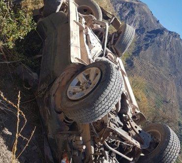Alcalde que conducía camioneta que se desbarrancó donde murieron tres niños no tenía brevete