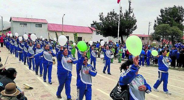 AYAVIRI: SANTA ROSA. Inauguran los XXIII Juegos Deportivos Magisterial de la Provincia de Melgar