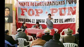 Puno: Organizaciones sociales del sur determinarán acciones de protesta contra el gobierno el 6 de enero