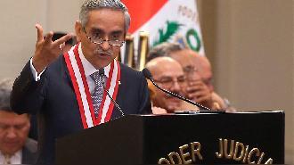 """Puno: Presidente del Poder Judicial Duberli Rodríguez llama """"delincuentes"""" a los políticos del país"""