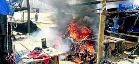 Diez campamentos y equipos mineros ilegales fueron quemados en Lampa