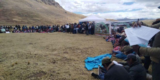 MELGAR: POBLADORES DE ORURILLO Y NUÑOA RECHAZAN PROYECTO MINERO SANTO DOMINGO