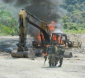 Fiscalía halla maquinaría del Gobierno Regional en labores de minería ilegal