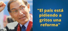 Martín Vizcarra planteó cuestión de confianza para aprobar reformas constitucionales