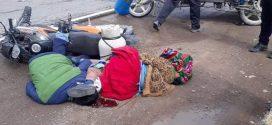 ACCIDENTE EN AYAVIRI  CHOCAN MOTOTAXI Y MOTO ÑINEAL, hoy en horas de la tarde