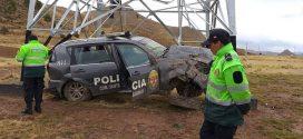 Dos policías quedaron heridos en despiste de patrullero