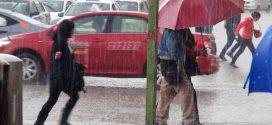 Precipitaciones estarán acompañadas de descargas eléctricas y ráfagas de viento