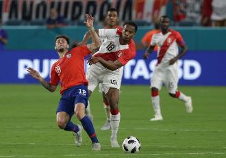 Perú venció 3-0 a Chile en amistoso jugado en Miami