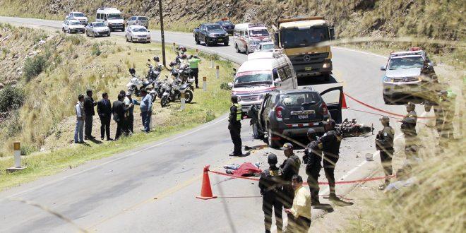 Policía fallecido en accidente, no llevaba bien sujeto su casco de seguridad