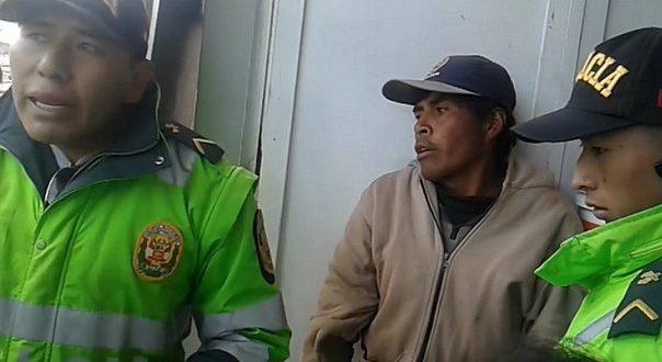 Comerciantes se enfrentan a la PNP por arresto de una persona con retraso mental